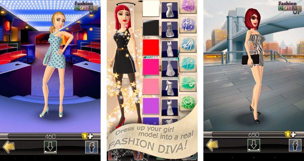 3D Juego de Vestir de Moda Android