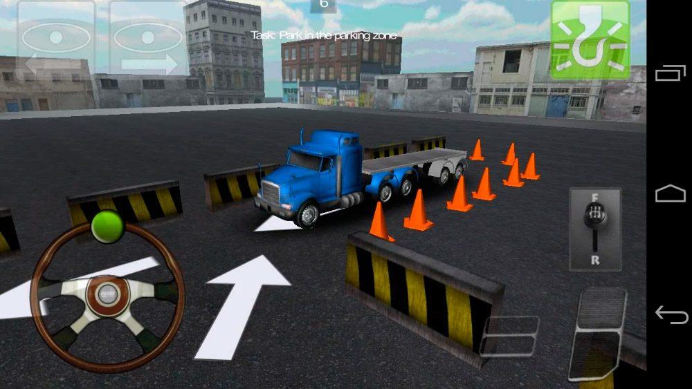 Aparcamiento para camiones 3D Android