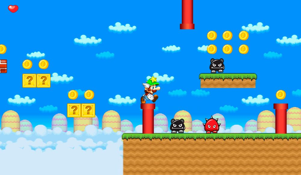Gino´s World, juego de Mario Bros Android