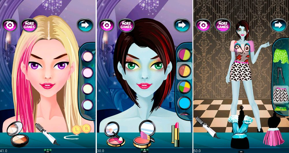 Juego Android Monster Makeup