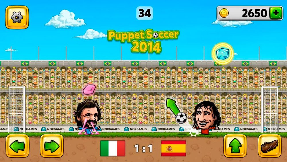 Juego Android Puppet Soccer 2014