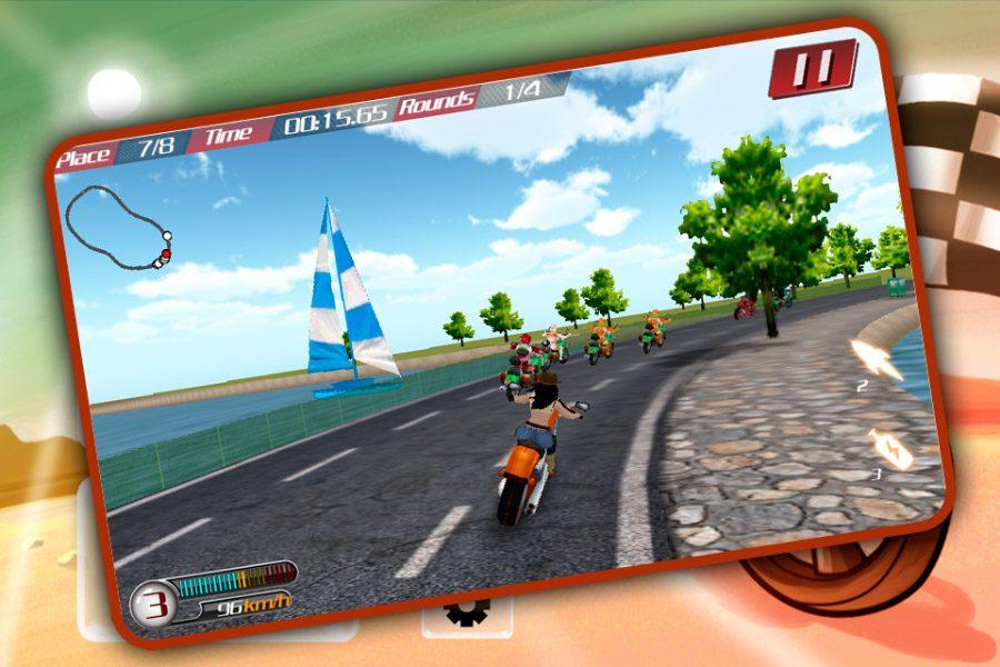 Juego de carreras Real Fast Moto Turbo Racing
