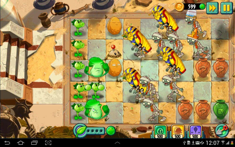 Juego para Android Plant vs Zombies 2
