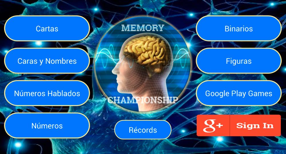Juegos Entrenador de memoria para Android