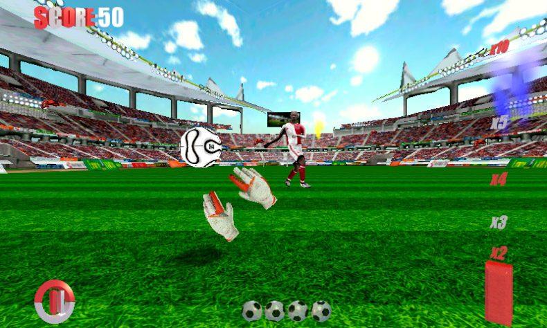 Portero partidos de fútbol 3D