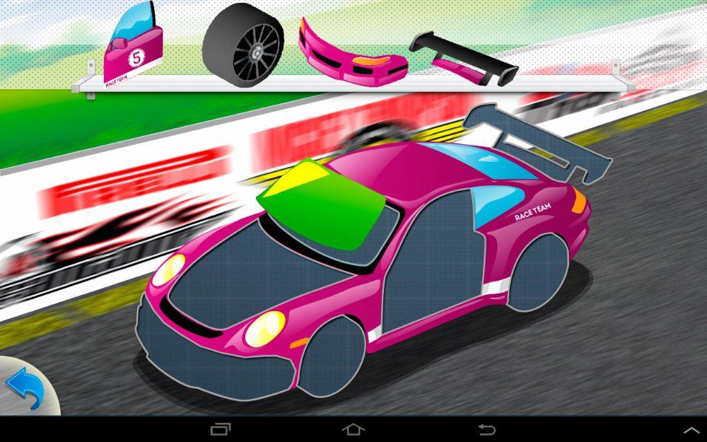 Puzzles de coches Android para niños