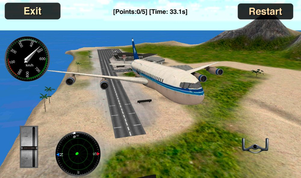 Simulador de vuelo 3D para Android