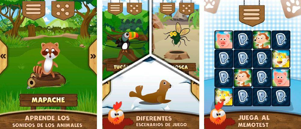 Sonidos de animales, juego educativo Android