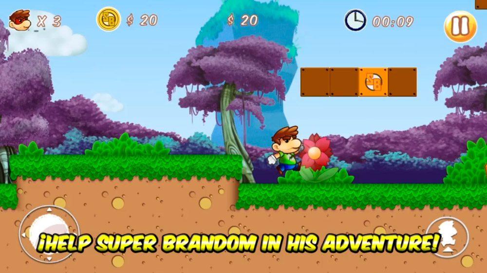 Super Brandom, juegos de Mario Bros Android