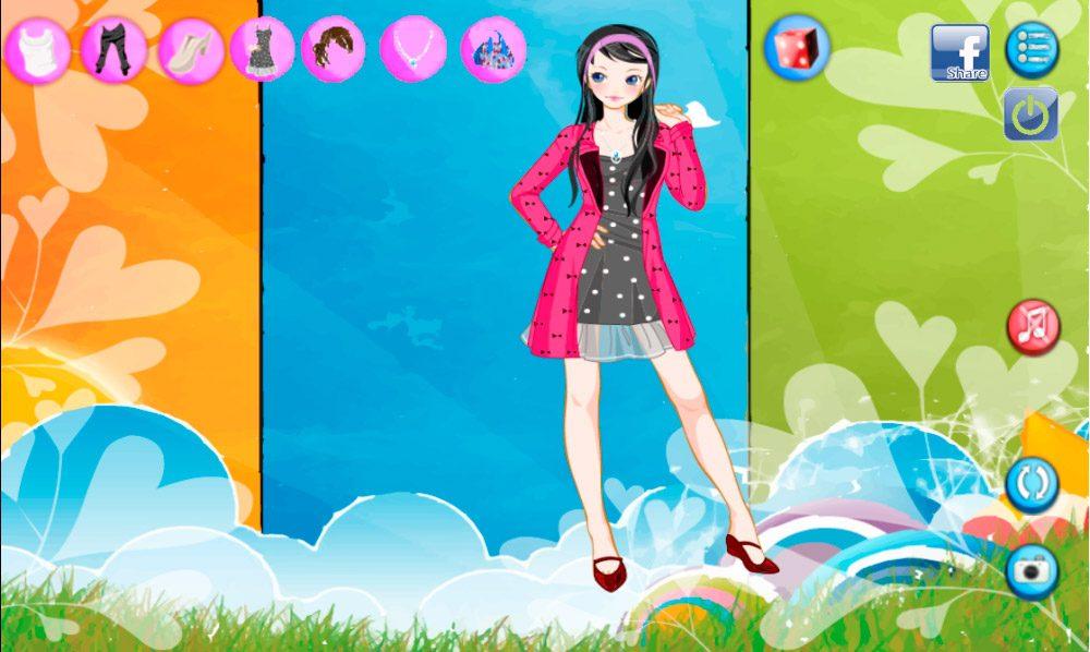 Vestir a Angelina, juego de vestir Android