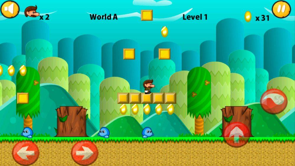 Zacky World, juego de Mario Bros Android