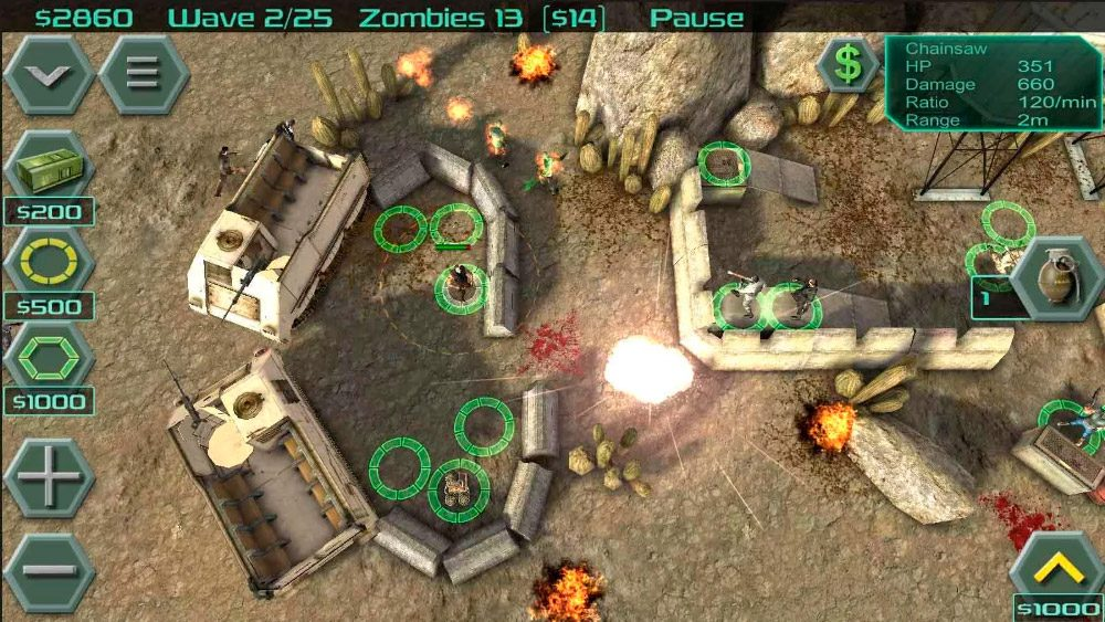 Zombie Defense para Android